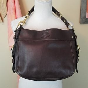 Coach Zoe Brown Leather Hobo Bag Purse